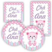 Kit Digital Chá De Bebê Rosa Rótulo Lembrancinhas P Imprimir