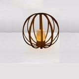 Lámpara De Piso Esfera C/vela - Teslamp Iluminación Tl