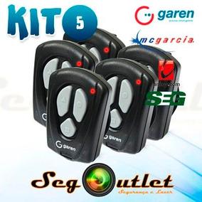 Kit C/5 Controle Remoto Portão Automatico Garen Ppa