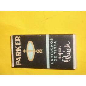 Parker-antiga Caixa De Tinta Super Quink -só A Embalagem