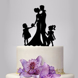 Topper De Torta Cumpleaños Boda Matrimonio Bautizo 15 Años