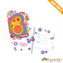 Convite Festa Borboleta / Floral C/8 Und Festcolor