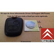 Kit Capinha Chave Telecomando Citroen C3 Peugeot 206 Picasso
