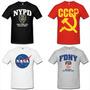 Camiseta Militares Nypd Fdny Cccp Swat Fbi Csi Nasa Bope Mma