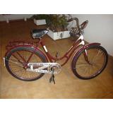 Rara Bicicleta Centrum Feminina Dos Anos 40/50 Aro 26 Balão