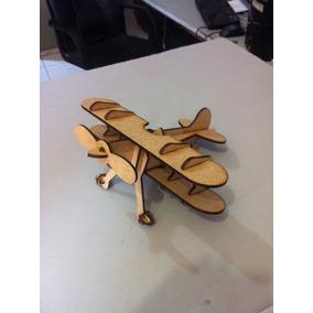 Kit 25 Avião Madeira Mdf Brinquedo Corte A Laser Festas