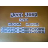 Kit De Emblemas Para Jeep Grand Cherokee Completo