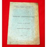 Derecho Constitucional Programa 1963 Raúl Ferrero Universida