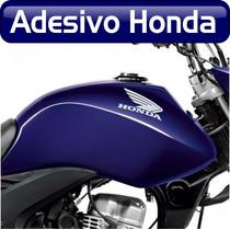 Adesivo Do Tanque Moto Honda - Asa Honda 2 Unidades