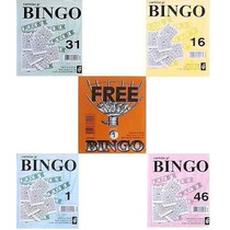 5.000 Cartelas Coloridas (8cm X 10cm) P/ Bingos De 75 Bolas