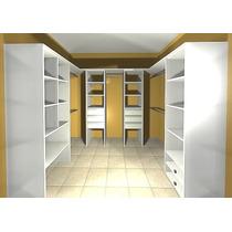 Vestidor 2.50 X 1.50 - 4 Modulos+barrales+piso De Baulera