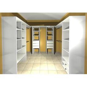 Vestidor 1.50x2.50x1.50 - 4 Modulos+barrales+techo