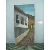 Quadro Ouro Preto Pintura Óleo Sobre Tela 41x 20 - Ref. 3865