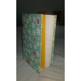 Libreta Artesanal,tamaño Media Carta, Pasta Dura, 100 Hojas.