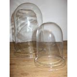 Cupula De Vidrio C/talon En La Base 15x25