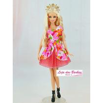 Roupinha Princesa Para Boneca Barbie * Roupa Sapato Coroa !