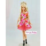 Roupinha Princesa P/ Boneca Barbie * Roupa Sapato Coroa 69f