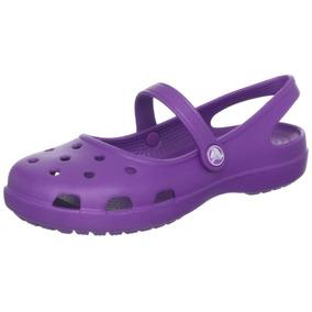 Crocs Flats Para Mujer Modelo Shayna Color Morado