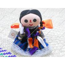 Muñeca De Trapo Tradicional Mexicana De 12 Cm