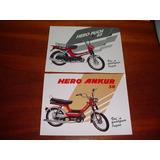 Folder Raro Motocicleta Hero Puch E Ankur