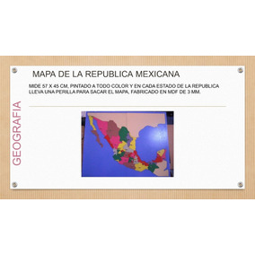 Mapa De La Republica Mexicana Montessori