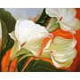 Tela Flores Copos De Leite Pintura Quadro Frete Gratis