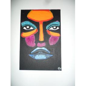Tela Pintada À Mão Com Tinta Acrílica 30cmx20cm Ref. 013