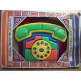 Antiguo Juguete Telefono Didactico,para Armar,plastico,nuevo