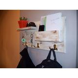 Perchero Organizador+llavero+estante+casillero.madera Maciza