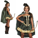 Fantasia Hobin Hood Feminina - Conto De Fadas - Luxo Importa