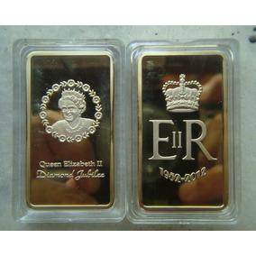 Medalha Barra Inglaterra Elizabeth, 1 Once - Ouro 1952-2012