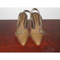 Sapato Scarpin Marron Claro Numero 35 Salto 7cm