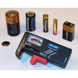Testador De Pilhas Baterias Medidor Normal E Recarregáveis