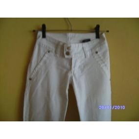 8c0eeaf45d685 Ca043 - Calça Jeans Branca Com Stretch Manequim 34 Da Footo