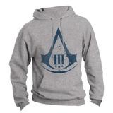Blusa Assassins Creed Canguru Com Capuz