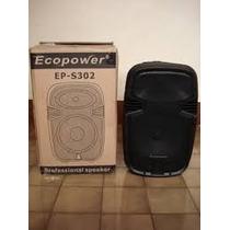 Caixa Ativa 12 Ecopower Ep-s302 400w Rms (com Mic. S/ Fio)