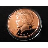Moneda Onza De Cobre Peace Dollar #3
