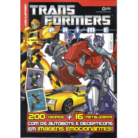 Álbum Figurinhas Transformers Prime 2012 Completo Para Colar