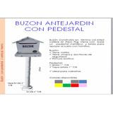 Buzón Metálico Casita Con Pedestal