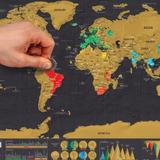 Mapa Map Raspar Raspagem Marcador Scratch Map Mundi Mundo