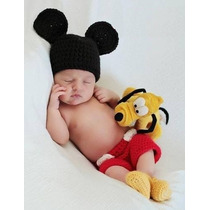 Vestuario De Crochet Estilo Mickey Mouse