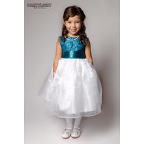 Vestido De Festa Casamento Dama Formatura Infantil Verde