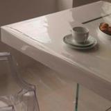 Toalha De Mesa Quadrada Cristal Transparente Tam 1.38 X 1.38