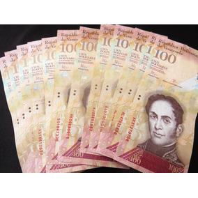 Billete 100 Bolivares Venezuela X Pieza