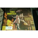 Disco Acetato De Temas Inmortales De Peliculas, Orquesta Rom