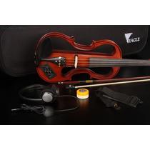 Violino Eagle Elétrico Ev 744 Com Case E Fone Frete Gr 12x
