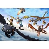 Poster De Seda Infantil Como Treinar Seu Dragão