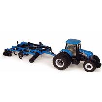 Miniatura Trator New Holland Tg305 + Subsolador St740 - 1/64