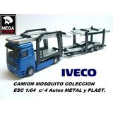 Camion Mosquito Iveco Coleccion Metal Esc1:64 + 4 Autos