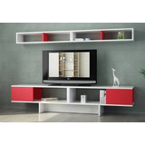 Mueble Modular Moderno Rack Panel Tv Lcd Living